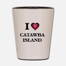 I love Catawba Island Ohio Shot Glass
