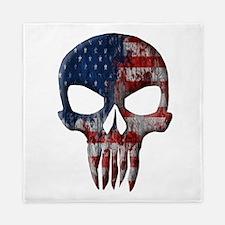 American Skull on Dark Queen Duvet