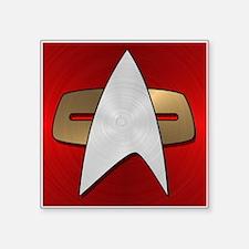 """STARTREK VOY METAL 4 Square Sticker 3"""" x 3"""""""