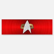 STARTREK VOY METAL 4 Sticker (Bumper)