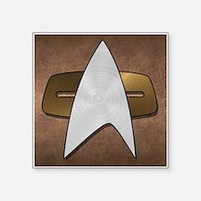 """STARTREK VOY METAL 3 Square Sticker 3"""" x 3"""""""