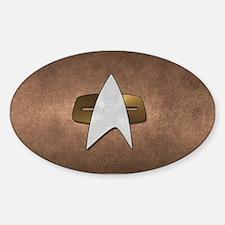 STARTREK VOY METAL 3 Sticker (Oval)