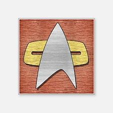 """STARTREK VOY METAL 2 Square Sticker 3"""" x 3"""""""