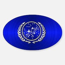 STARTREK UFP METAL 2 Sticker (Oval)