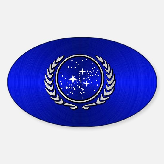 STARTREK UFP METAL 2 Sticker (Oval)