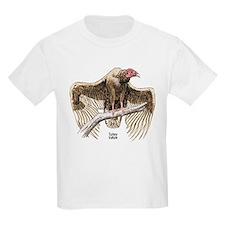 Turkey Vulture Bird (Front) Kids T-Shirt