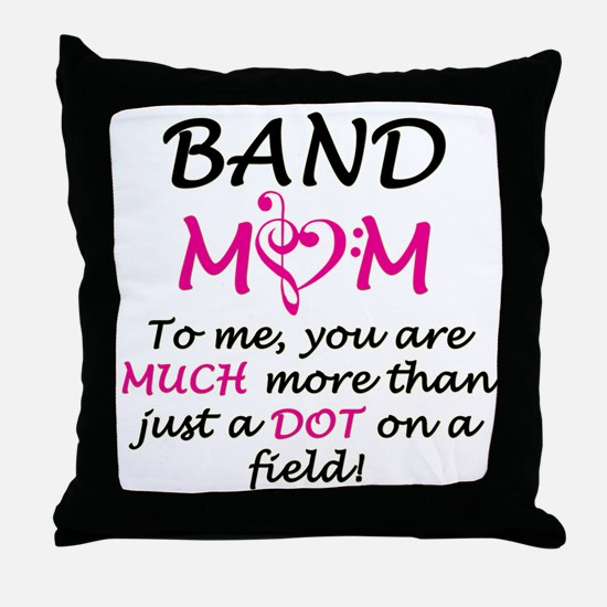 Band Mom Throw Pillow