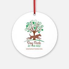Dog Park at the Rez Round Ornament