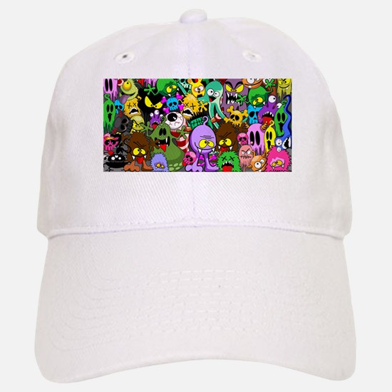 Monsters Creepy Doodles Saga Baseball Baseball Cap