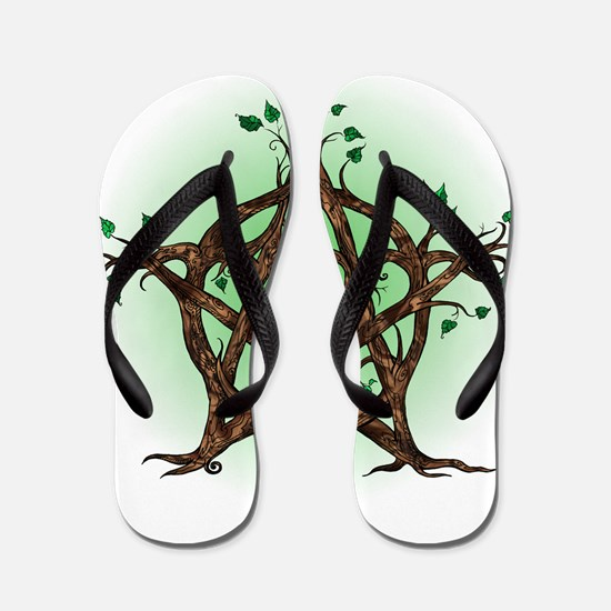 Magic Tree Symbol green backed Flip Flops