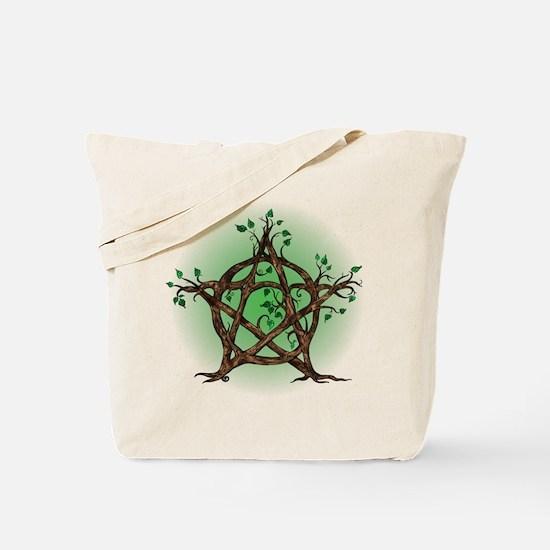 Magic Tree Symbol green backed Tote Bag
