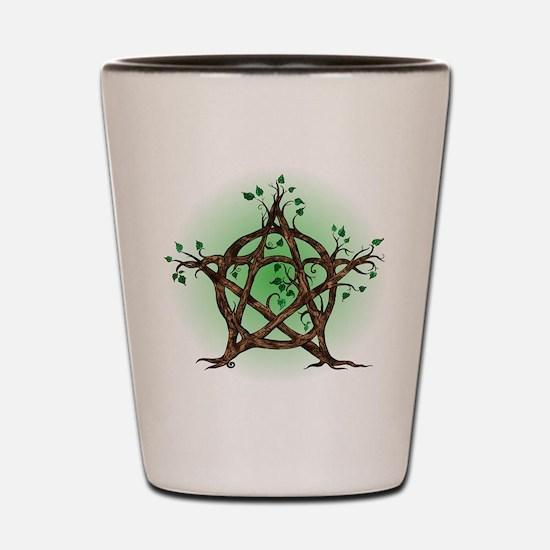 Magic Tree Symbol green backed Shot Glass