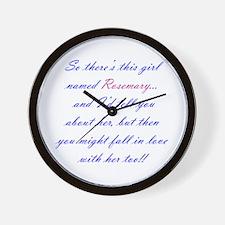 Be Rosemary Wall Clock