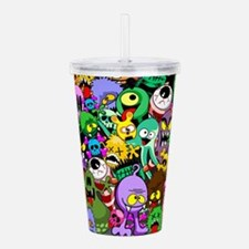 Monsters Creepy Doodles Saga Acrylic Double-wall T