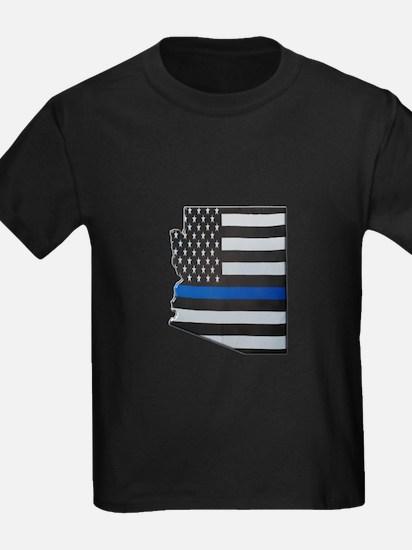 Arizona Thin Blue Line Map T-Shirt
