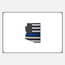Arizona Thin Blue Line Map Banner