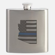Arizona Thin Blue Line Map Flask