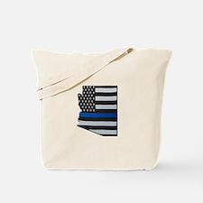 Arizona Thin Blue Line Map Tote Bag