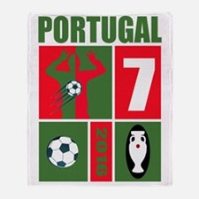 Unique Portugal soccer Throw Blanket