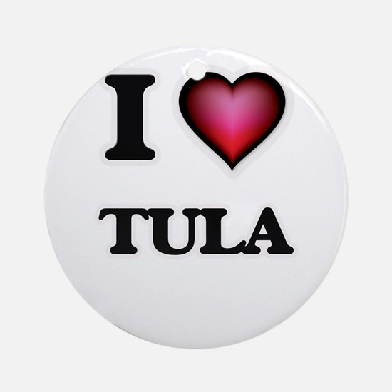 I love Tula Samoa Round Ornament