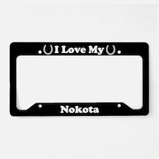 I Love My Nokota Horse License Plate Holder