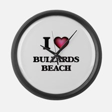 I love Bullards Beach Oregon Large Wall Clock