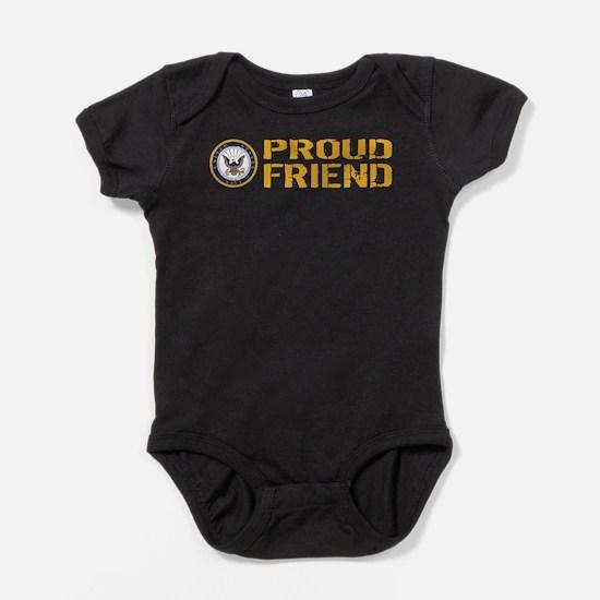 U.S. Navy: Proud Friend Baby Bodysuit