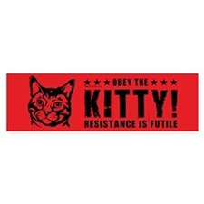 Obey the KITTY! Bumper Car Sticker