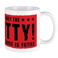 Obey the KITTY! Propaganda Cat Coffee Mug