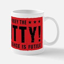 Obey the KITTY! Propaganda Cat Coffee Mug