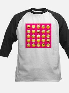 neon pink emoji Baseball Jersey