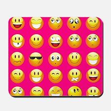neon pink emoji Mousepad