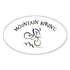 MOUNTAIN BIKING Oval Decal