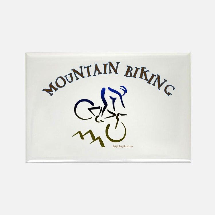 MOUNTAIN BIKING Rectangle Magnet (10 pack)