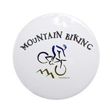 MOUNTAIN BIKING Ornament (Round)