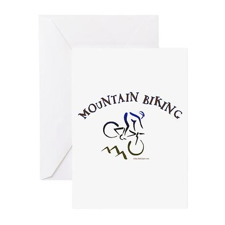 MOUNTAIN BIKING Greeting Cards (Pk of 20)