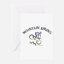MOUNTAIN BIKING Greeting Cards (Pk of 10)