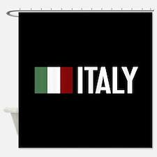 Italy: Italian Flag & Italy Shower Curtain