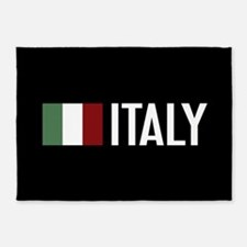 Italy: Italian Flag & Italy 5'x7'Area Rug