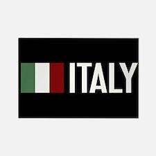 Italy: Italian Flag & Italy Rectangle Magnet