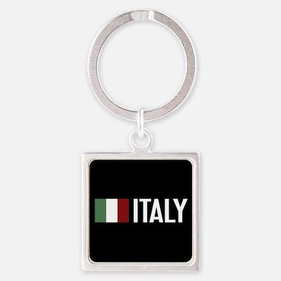 Italy: Italian Flag & Italy Square Keychain