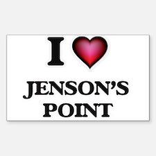 I love Jenson'S Point Texas Decal