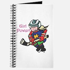 Girl Power Hockey Player Journal
