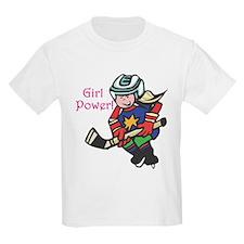 Girl Power Hockey Player T-Shirt