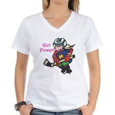Girl Power Hockey Player Shirt