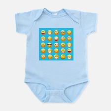 aqua blue emojis Body Suit