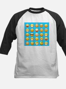 aqua blue emojis Baseball Jersey