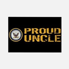 U.S. Navy: Proud Uncle (Black) Rectangle Magnet