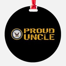 U.S. Navy: Proud Uncle (Black) Ornament
