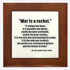 War is a Racket Framed Tile